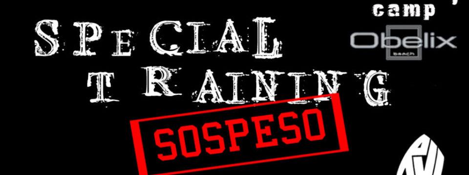 SPECIAL TRAINING 2020 – SOSPESO