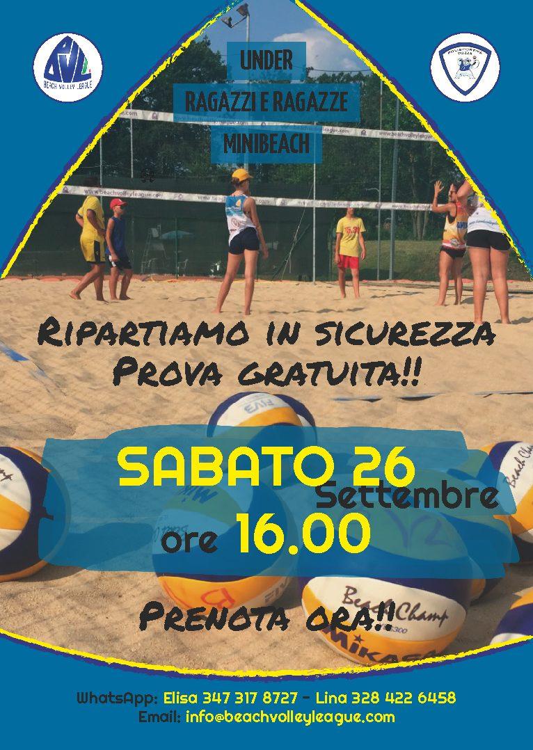 Under, Ragazze/i, MiniBeach PORTE APERTE 26/9